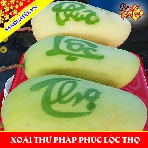 Xoài thư pháp Phúc Lộc Thọ 2021 - Nơi bán xoài thư pháp ở Sài Gòn